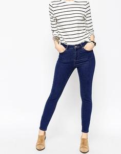 Синие укороченные джинсы скинни ASOS Ridley - Синий