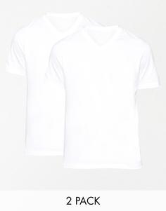 Две футболки классического кроя с V‑образным вырезом Hugo Boss - Белый
