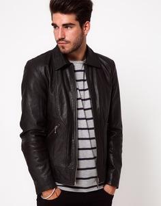 Кожаная куртка Nudie Jonny Biker - Черный