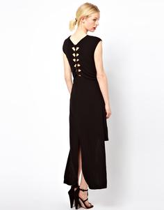 Платье‑рубашка с узелками на спинке Kore by Sophia Kokosalaki - Черный