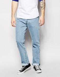 Прямые светлые джинсы с эффектом поношенности Levi's Jeans 501 - Синий Levi's®