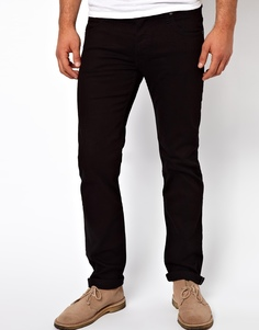 Черные джинсы слим с заниженной талией Lee Powell - Чистый черный