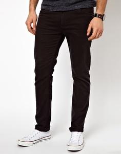 Эластичные джинсы слим Farah - Черный