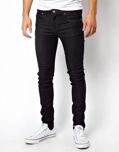 Темно-синие джинсы скинни из необработанного денима Dr Denim - Синий