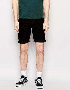 Джинсовые шорты скинни средней длины ASOS - Черный