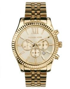 Часы с хронографом Michael Kors Lexington MK8281 - Золотой