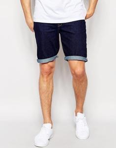 Зауженные джинсовые шорты ASOS - Indigo - индиго