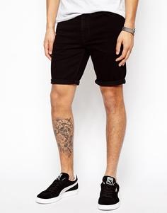 Супероблегающие джинсовые шорты средней длины ASOS - Черный