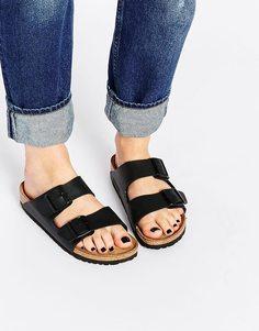 Черные узкие сандалии Birkenstock Arizona - Черный