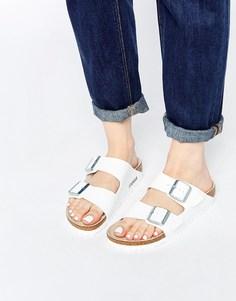 Белые сандалии Birkenstock Arizona Birko Flor - Белый