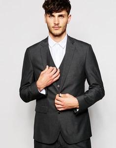 Темно-серый пиджак слим ASOS - Угольный