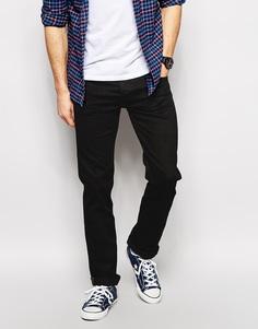 Прямые эластичные черные джинсы Lee Blake Stay Black - Прямые черные