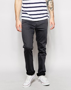 Узкие серо-черные выбеленные джинсы 511 Levi's Line 8 3D - Черно-серые с эффектом 3d