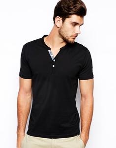 Винтажная футболка из хлопка пима Selected - Черный
