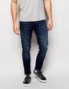 Зауженные темно-синие джинсы ASOS - Синий