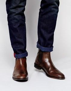 Кожаные ботинки ASOS Chelsea - Коричневый