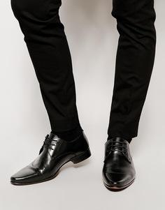 Кожаные туфли дерби ASOS - Черная кожа
