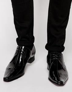 Туфли с прострочкой по центру Jeffery West - Черный