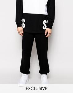 Спортивные штаны с блочным логотипом эксклюзивно для SONS - Черный