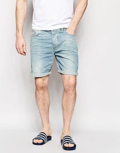 Джинсовые шорты слим ASOS - Светло-голубой