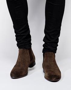 Замшевые ботинки ASOS Chelsea - Коричневая замша