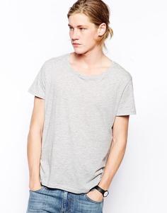 Меланжевая футболка Weekday - Серый