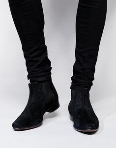 Замшевые ботинки ASOS Chelsea - Черный замшевый