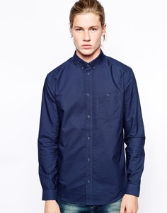 Оксфордская рубашка на пуговицах Weekday Bad Times - Темно-синий