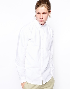 Оксфордская рубашка на пуговицах Weekday Bad Times - Белый