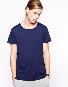 Меланжевая футболка Weekday - Темно-синий