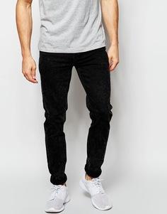Черные мраморные джинсы скинни ASOS - Черный