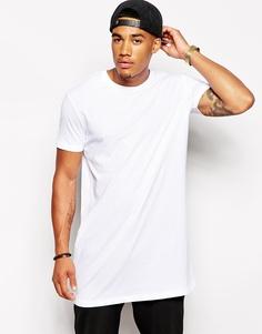 Ультрадлинная расклешенная футболка ASOS - Белый