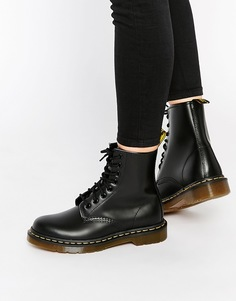 Классические ботинки с 8 парами люверсов Dr Martens Smooth 1460 - Черный