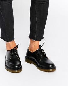 Черные туфли на плоской подошве Dr Martens 1461 - Черный