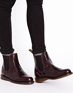 Бордовые ботинки челси Dr Martens Kensington Flora - Вишнево-красный