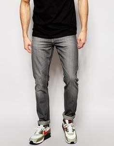 Серые выбеленные джинсы слим Blend Twister - Светло-серый