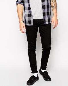 Черные джинсы скинни Nudie Jeans Skinny Lin - Черный черный