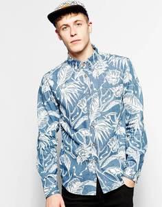 Джинсовая рубашка с принтом Son Of Wild - Синий