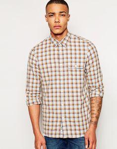 Фланелевая рубашка Jack Wills Glazebrook - Бежевый