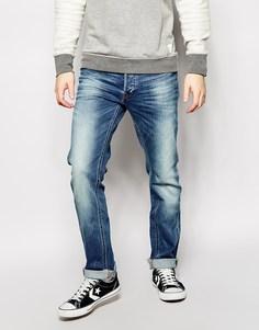 Светлые выбеленные джинсы слим Lee Daren - Back yard worn