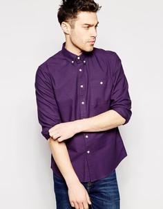 Фиолетовая рубашка-оксфорд с длинными рукавами ASOS - Фиолетовый