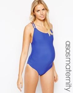 Слитный купальник для беременных Emma Jane - Синий