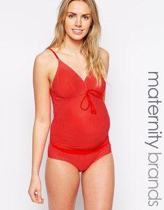 Танкини в горошек для беременных Mamalicious - Красный Mama.Licious
