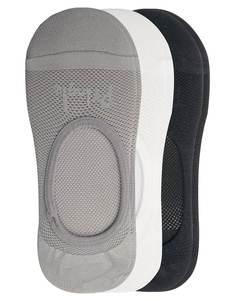 Комплект из 3 пар невидимых спортивных носков Pringle - Мульти