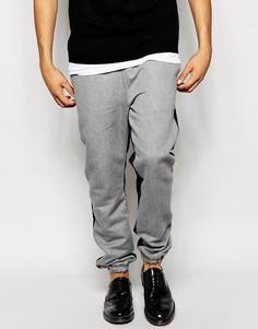 Спортивные брюки cлим с контрастными вставками ASOS - Серый