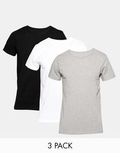 Набор из 3 классических эластичных футболок с круглым вырезом Tommy Hilfiger - Мульти