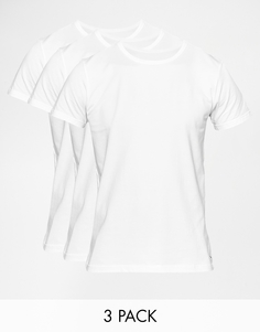 Набор из 3 классических эластичных футболок с круглым вырезом Tommy Hilfiger - Белый