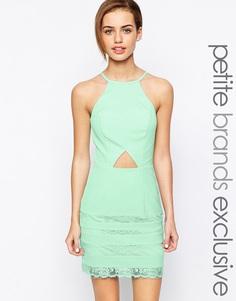 Платье мини с вырезами Jarlo Petite - Мятный