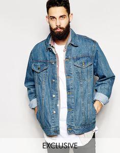 Джинсовая оversize-куртка Reclaimed Vintage - Синий