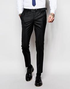 Зауженные брюки из эластичной ткани Noose & Monkey - Черный